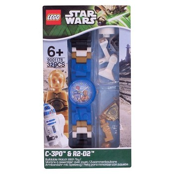 LEGO Accessories: Watch: C-3PO and R2-D2 Minifigure Watch NEW