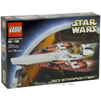 LEGO Star Wars Sets: Episode II 7143 Jedi Starfighter NEW