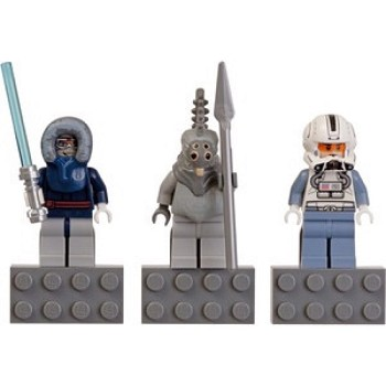 LEGO Star Wars Sets: 853130 Anakin Skywalker, Talz Chieftain, and Clone Pilot minifigure Magnets NEW