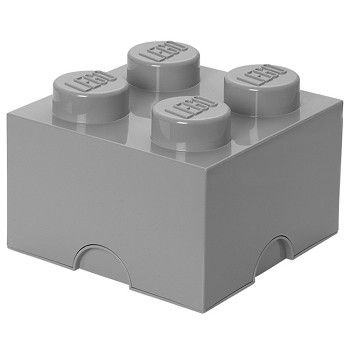 LEGO Storage: 40030640 4-stud Brick Medium Stone Grey NEW