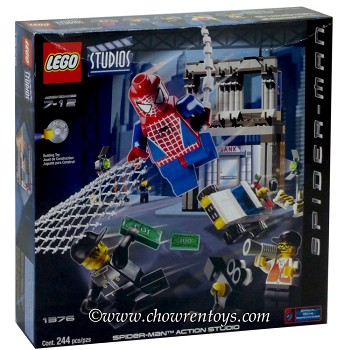 LEGO Super Heroes Sets: Marvel 1376 Spider-Man Action Studio NEW *Rough Shape*