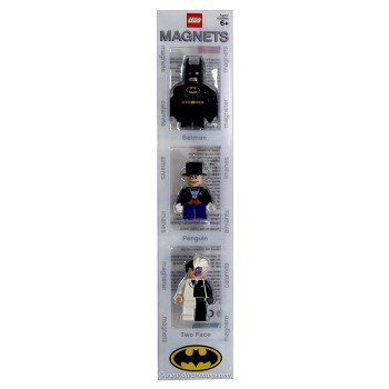 LEGO Super Heroes Sets: DC Comics 4493780 Batman, The Penguin, and Two-Face Minifigure Magnets NEW
