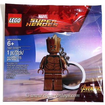 LEGO Super Heroes Sets: Marvel 5005244 Teen Groot Key Chain NEW
