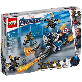 LEGO Super Heroes Sets: Marvel 76123 Captain America: Outriders Attack NEW