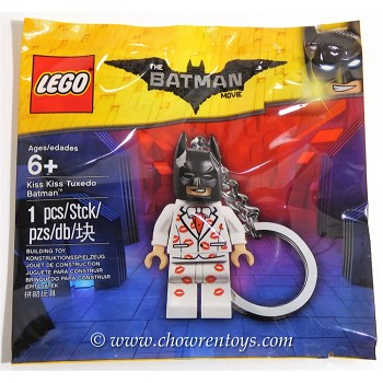 LEGO The LEGO Batman Movie Sets: 5004928 Kiss Kiss Tuxedo Batman Key Chain NEW