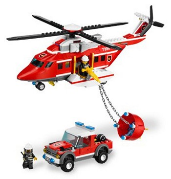 LEGO Town Sets: City 7206 Fire Helicopter NEW