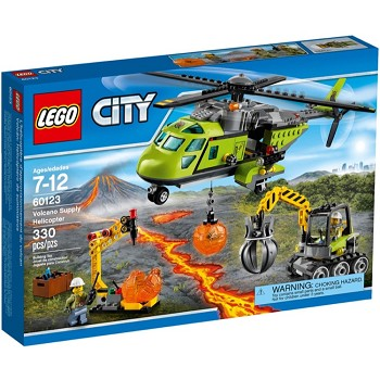 LEGO Town Sets: City 60123 Volcano Supply Helicopter NEW *Damaged Box*