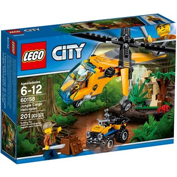 LEGO Town Sets: City 60158 Jungle Cargo Helicopter NEW *Damaged Box*