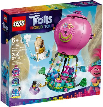 LEGO Trolls World Tour Sets: 41252 Poppy's Air Balloon Adventure NEW