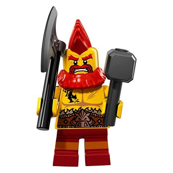 LEGO Collectible Minifigures: 71018 Series 17 Battle Dwarf NEW