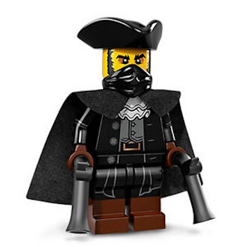 LEGO Collectible Minifigures: 71018 Series 17 The Mystery Man (Highwayman) NEW