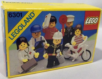 LEGO Town Sets: LEGO Minifigures 6301 Town Minifigures NEW *Damaged Box*