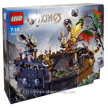 LEGO Vikings Sets: 7019 Viking Fortress against the Fafnir Dragon NEW